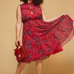 ModCloth High neckline midi dress 1X